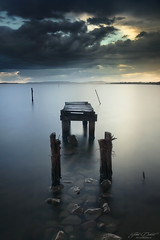 Before the rain (JD Photographie.) Tags: wood light sky lake france water rain clouds canon julien pond europe long exposure before filter lee nd languedoc bois ponton tang hrault vestige luminosity gnd delaval 40d