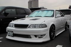 TOYOTA MARK2 (Audi quattro2) Tags: white japan sedan jdm drift
