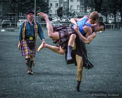 Backhold Wrestlers (FotoFling Scotland) Tags: scotland kilt wrestler grip hold highlandgames kilted robertclark scottishwrestlingbond wrestlingbond