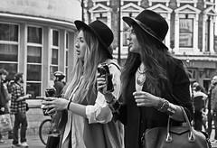 Girls in Town... (MWBee) Tags: ladies london fashion nikon camden camdenmarket hats cider trendy d750 strongbow camdenhighstreet mwbee