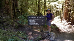 Trail head for several hikes, including ours to Deer Lake