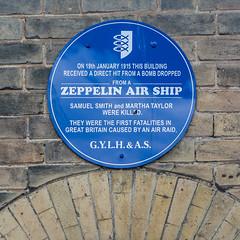 First air raid fatalities in Britain (bardwellpeter) Tags: plaque norfolk zeppelin raid yarmouth greatyarmouth julys nx3000 samsungnx3000 ymplq