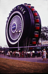 U S Royal Tire Ferris Wheel Worlds' Fair (Brownie Hawkeye Pics) Tags: usroyal tire ferriswheel worldsfair 1964 newyork exhibit pavilion attraction wheel
