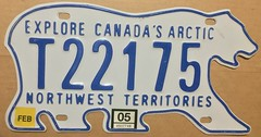 NORTHWEST TERRITORIES 2005 ---TRAILER LICENSE PLATE (woody1778a) Tags: nwt northwestterritories canada mycollection myhobby licenseplate numberplate registrationplate bear bearplate