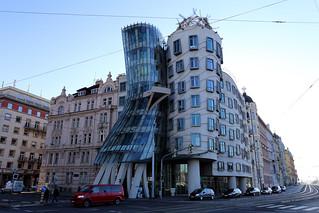 Dancing House, Prague, Czech Republic.