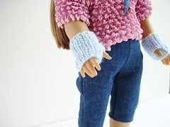 Knitting Pattern For American Girl Doll Mittens : Ravelry: American Girl Doll Free Fingerless Mittens Pattern pattern by Jacque...