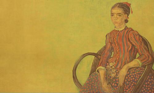 """La Mousmé, estilización de Vincent van Gogh (1888), transpolación de Pablo Picasso (1937). • <a style=""""font-size:0.8em;"""" href=""""http://www.flickr.com/photos/30735181@N00/8815607692/"""" target=""""_blank"""">View on Flickr</a>"""