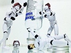 Party time! (sir_winger) Tags: party trooper toy toys starwars drink action alcohol figure vodka absolut clone hasbro uploaded:by=flickrmobile flickriosapp:filter=nofilter