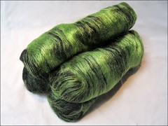 Witches Tresses batts (Needleloca) Tags: stash spinning fiber ribbet batts 2013