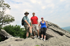 Bill, Josh and Rhonda on Chimney Rocks (Throwingbull) Tags: park chimney sport bill rocks joshua hiking pennsylvania 14 william hike josh pa trail national rhonda vista hiker hikers appalachian activity sec section outcropping