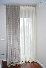 "Cortinas de lino con doble cortina terciopelo y barra de forja • <a style=""font-size:0.8em;"" href=""http://www.flickr.com/photos/67662386@N08/9194688168/"" target=""_blank"">View on Flickr</a>"