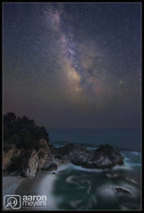 McMilky Falls (Aaron M Photo) Tags: california statepark park longexposure nightphotography sky june night stars waterfall big nikon long exposure cove bigsur pacificocean burns galaxy astrophotography sur milky pfeiffer d800 milkyway juliapfeifferburnsstatepark mcwayfalls mcway parkstate nikond800 aaronmeyersphotography