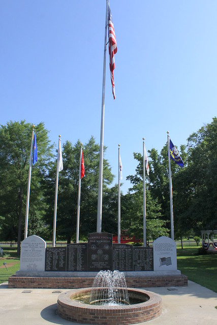 Scenes from Thomas Park: Veterans Memorial - Huntingdon, TN