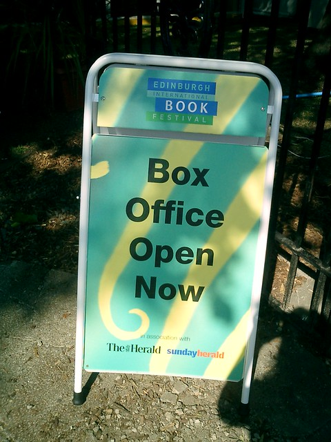 The Box Office is open! Sign from the 2003 Edinburgh International Book Festival