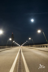 Barrage de l'eau d'Heure (Feron Nicolas Infographiste) Tags: night lune nikon belgique nuit barrage wallonie d90 eaudheure cerfontaine provincedenamur
