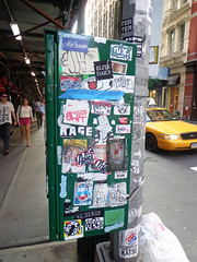 Manhattan Street Stickers (freaQ) Tags: nyc urban streetart yellow happy sticker stickerart manhattan character cab paste stickers cartoon vinyl adhesive printed katsu handdrawn combo stickercombo straatkunst stickerpack freaq stickertrade 2013
