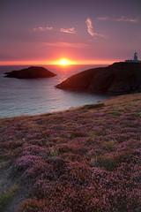 Strumble Head (Ali Wade) Tags: sunset lighthouse beach wales coast rocks strumblehead pembrokeshire coastalpath coastpath