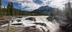 Roaring Athabasca Falls (Kristin Repsher) Tags: panorama rockies waterfall nikon long exposure jasper falls alberta athabascariver jaspernationalpark athabascafalls density athabasca neutral icefieldsparkway canadianrockies nd4 glacierfed d700 afsnikkor2470mmf28ed autopanogiga