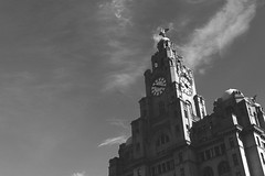Liverpool in Black & White (myerslaura) Tags: city uk england blackandwhite building architecture liverpool soft liver citycentre thebeatles