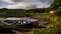 Boats on the Water (BusterBB001) Tags: park longexposure sea brown water night canon reflections boats scottish vessel 7d rowing buster loch 1740mm trossachs ard stirlingshire 6d