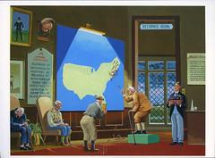 postcard - Bruce McCall, Serious Nonsense - USGA Picks the Next... (Jassy-50) Tags: humorous drawing postcard mccall brucemccall