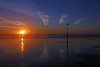 September Sunset (John Ibbotson (catching up!)) Tags: sunset sea sun seascape reflection beach wales clouds coast day ceredigion borth pwpartlycloudy