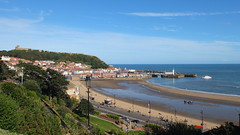I chuffing love it (danpea) Tags: uk sea england lighthouse castle beach sand scarborough southbay northyorkshire headland