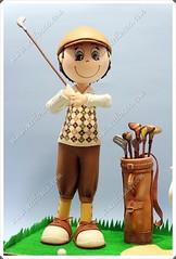 Fofucho golfista clsico ganador del torneo (Xeitosas) Tags: golf diy handmade artesanal craft foam foamy manualidades fofucho golfista pintadoamano gomaeva xeitosas