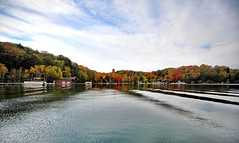 Waterdome (AZ Imaging) Tags: autumn ontario canada fall water colors leaves clarity peaceful waterdome skeletonlake