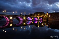 Toulouse, France - Reflets du Pont Neuf sur la Garonne (g00ndy) Tags: sunset toulouse garonne pontneuf coucherdesoleil bestcapturesaoi flickrsfinestimages1 flickrsfinestimages2 flickrsfinestimages3