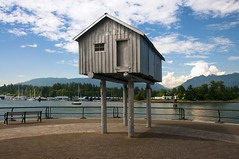 Lightshed at Coal Harbour, Vancouver, British Columbia Canada (LimeWave Photo) Tags: city canada vancouver downtown waterfront harbour britishcolumbia walkway northamerica coalharbour lightshed