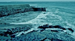 St Ives pier (E.Hphotography) Tags: ocean winter sea wild seascape water pier seaside rocks cornwall waves power teal stormy strong rough stives