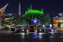 Space Mountain TRON style (Gregg L Cooper) Tags: mountain halloween night canon eos disneyland space disney 5d