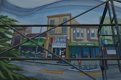 Mural (Shannon Rose McInerney Photography) Tags: ocean street green apple church alexandria silver bars san francisco pacific theatre district surfer chinese richmond bookstore end clubs lands russian clement