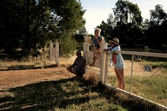 Country style (louise garin) Tags: friends field cherry fun cherries gate friendship country young picture style australia laugh summertime australie