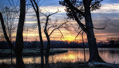 HCS - Another Sunset edition (Wes Iversen) Tags: trees water lakes silhouettes sunsets hdr odc hcs cookcountyforestpreserve nikkor18300mm bigbendlake ourdailychallenge clichsaturday