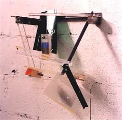 Sinfonia   ( 1996 ), acier, plexy, nylon, bois, film plastique, peinture, boulon (emmanuelviard75) Tags: films bois acier plexy