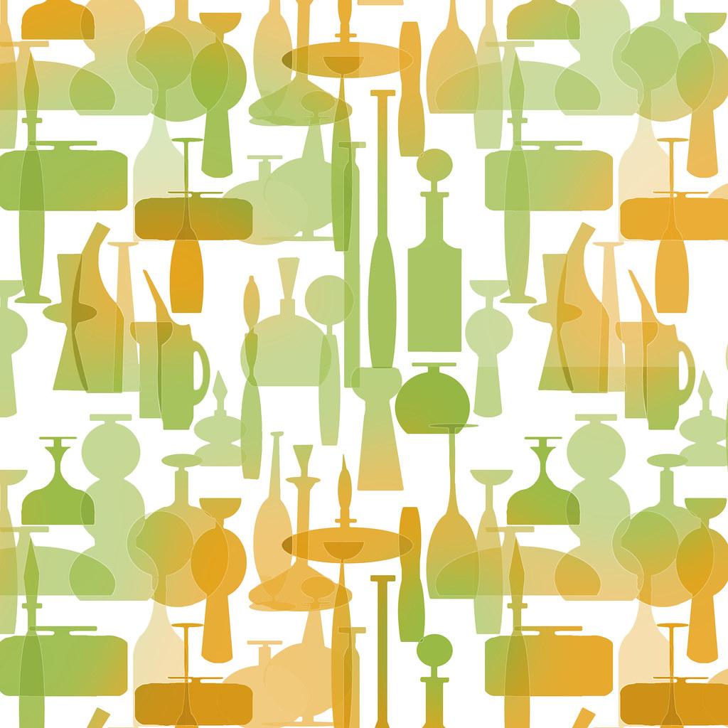 Tangerine Blenko Glass Wallpaper Pattern (sherwoodscot) Tags: Wallpaper  Glass Graphicart Graphicdesign Pattern Midcenturymodern