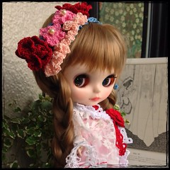 handmade hair accessories blythe doll.