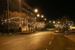 Christmas decoration in Tab, Hungary 2 (Romeodesign) Tags: christmas street xmas light night weihnachten hungary nacht decoration tab kossuth somogy