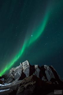 Northern lights and shooting stars