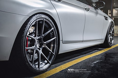 ADV1 BMW M5 (Marcel Lech Photography) Tags: christmas white canada vancouver photography lights marcel bc photoshoot flat side rear wheels f10 front bmw satin aggressive rims m5 matte lech adv1