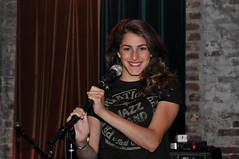 Cast member Lama Masri sings onstage at a concert by country star Greta Gaines in Nashville, Tennessee.