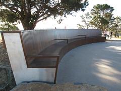 Fine bench at the Canberra Arboretum (spelio) Tags: bench scenery view good australia arboretum april canberra act cbr 2013