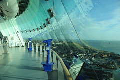 Spinnaker Tower Portsmouth, England (fillbee) Tags: england sky tower glass floor walk platform hampshire panoramic 150 views solent portsmouth spinnaker meters viewing 18october2005 344feet 350˚ 350˚panoramic