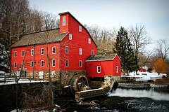 Winter's Muse (socalgal_64) Tags: trees red history mill water museum architecture landscape newjersey village clinton nj landmark historic jersey historical waterwheel redmill hunterdon mygearandme theredmillmuseumandvillage