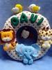 Guirlanda Pronta (Vi&cacá Arts) Tags: guirlanda macaco feltro animais leão girafa elefante enfeitedeporta enfeitedematernidade animaisemfeltro