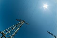 Energy - Energie... (markus_langlotz) Tags: sun art high energy pentax energie sonne strom voltage hochspannung masten stromtrasse