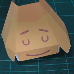 วิธีทำโมเดลกระดาษตุ้กตาสัตว์เลี้ยง หยดทองจากเกมส์ คุกกี้รัน (LINE Cookie Run Gold Drop Papercraft Model - クッキーラン  「黄金ドロップ」 ペーパークラフト) 012