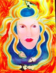 Medusa (JCent8) Tags: original woman abstract colors girl beautiful stone hair eyes artist warrior medusa snakes mythology myth godess artscene nyart njart